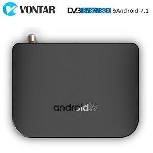 Image 1 - VONTAR DVB S2 Smart TV Box Android 7.1 Amlogic S905D Quad Core 1GB 8GB 1080p 4K 30fps Youtube Google Play Store MECOOL M8S PLUS