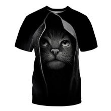 Новинка 3d Футболка мужская футболка с милым рисунком кота Мужская/Женская