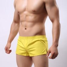цены Men Boxer Shorts Underwear Cotton Underpants Breathable Solid Color Home Underpants Sleepwear Cueca Boxer Para Hombre
