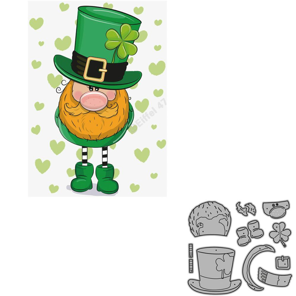 Clover Green Dwarf Elf Scrapbooking Metal Cutting Dies Alinacrafts Stamps And Craft Dies For Paper Card Making New 2020
