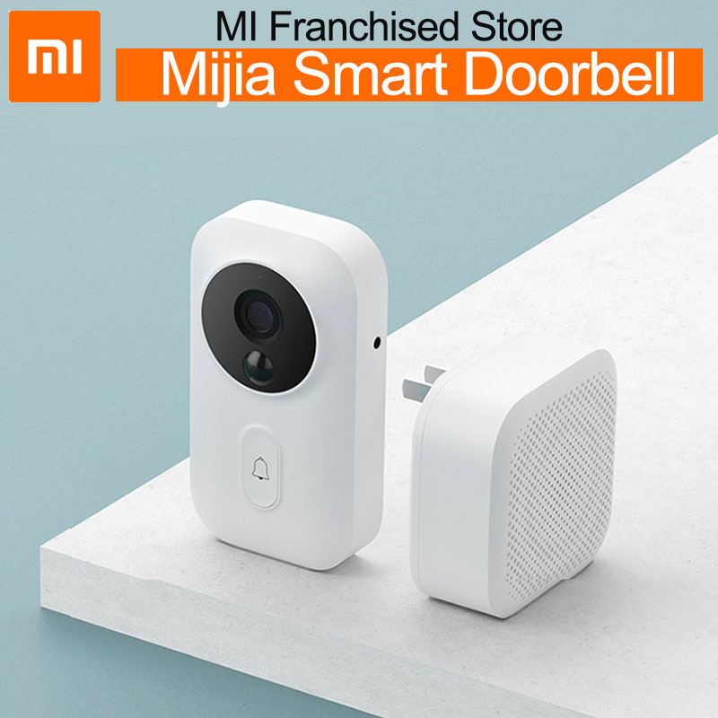 xiaomi mijia smart doorbell wifi camera video intercom wireless door newest IR ai face identification bell for office home mihom