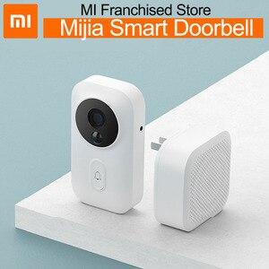 Xiaomi mijia câmera wi-fi vídeo porteiro sem fio da porta campainha inteligente mais novo IR ai rosto identificação sino para home office mihom