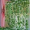 2,1 М длинные искусственных растений зеленых листьев плюща Искусственный искусственная Виноградная лоза Девичий Виноград листья дома свадь...