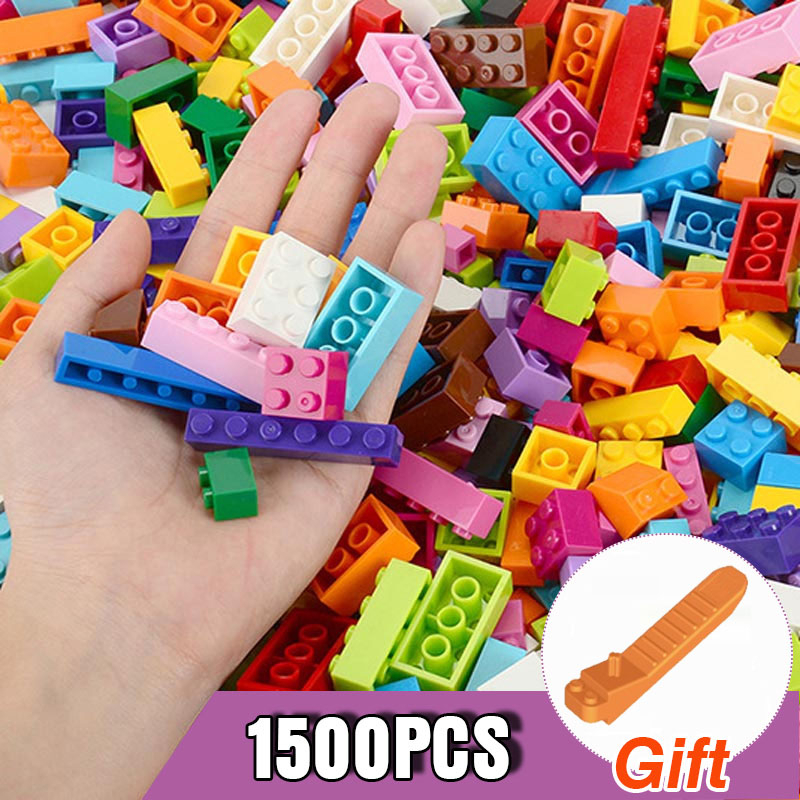 250-1500PCS Brand Building Blocks City DIY Creative Bricks Bulk Model Kids Assemble Toys Classic All Available Small Size