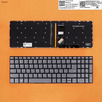 US QWERTY nowa klawiatura zamienna do Lenovo Ideapad 320-17IKB 320-17ISK 320-17AST 320-17ABR Laptop szary z podświetleniem bez ramki tanie i dobre opinie GEMWON NONE CN (pochodzenie) US Standardowy