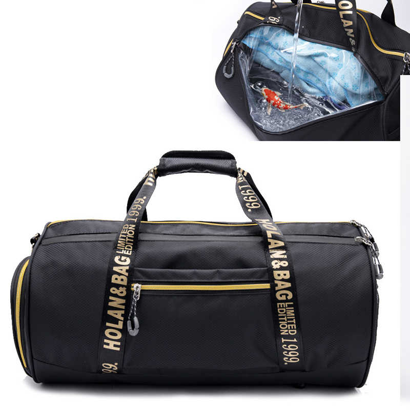 Waterproof Oxford Sport Gym Bags For Men Women Training Fitness Travel Handbag Yoga Mat Sport Bag With Shoes Compartment Outdoor