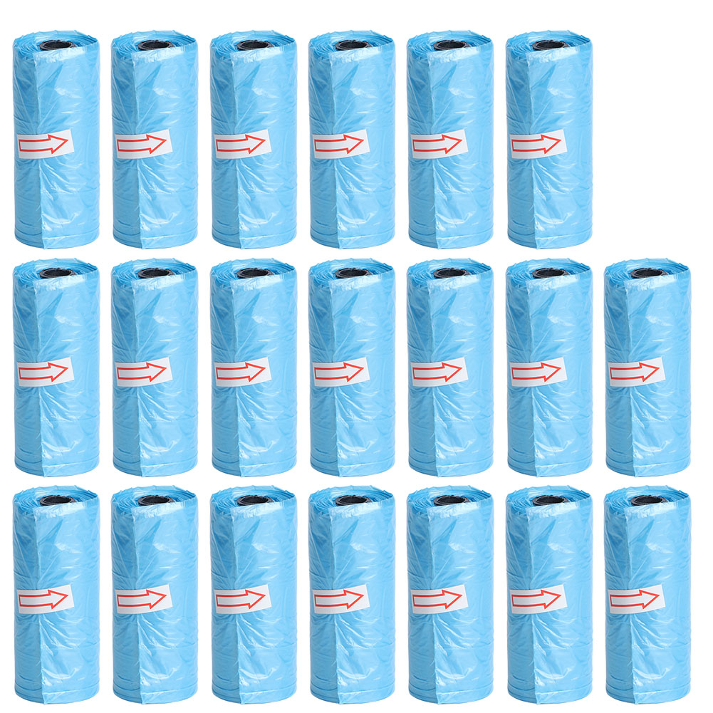 20Roll Disposable Infant Diaper Rubbish Garbage Bag Home Disposal Waste Bags(Blue )