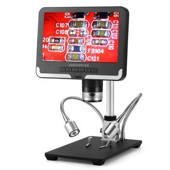 Andonstar 7 cal wyświetlacz LCD AD206 mikroskop cyfrowy dla telefonów komórkowych naprawa telefonu narzędzie do lutowania BGA SMT tanie i dobre opinie 500X i Pod Ze stopu Aluminium ze stopu Aluminium PORTABLE Mikroskop wideo Monokularowy