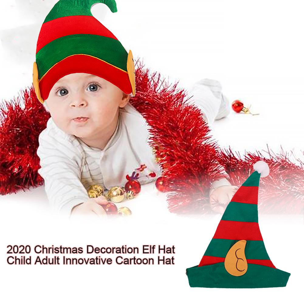 2020 Christmas Hat Christmas Decoration Elf Hat Child Adult Innovative Cartoon Hat