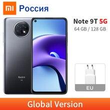 Version mondiale Xiaomi Redmi Note 9T 4GB 128GB / 64GB MTK Dimensity 800U 5G téléphone portable NFC 5000mAh batterie 6.53