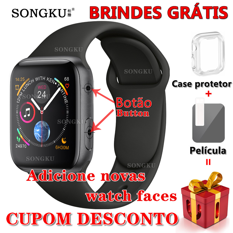 SONGKU IWO 8 PLUS 44mm Watch 4 Smart Watch Remote control siri watch for apple iPhone Android phone better than IWO 6 7 9 10 11-in Smart Watches from Consumer Electronics