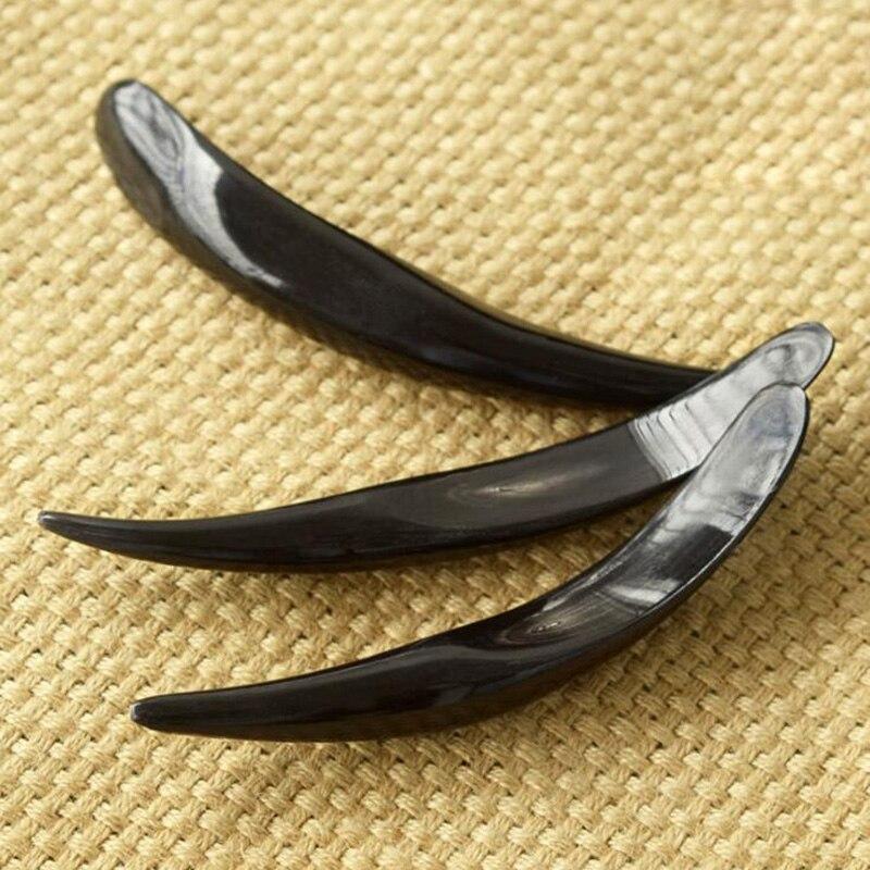 Good quality Massage Dian Xue Guasha Cone Scrapping Plate 100% Buffalo Horn 15-17cm 8pcs/lot