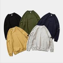 2021 primavera moda cp marca men hoodies pulôver solto velo grosso camisola de malha