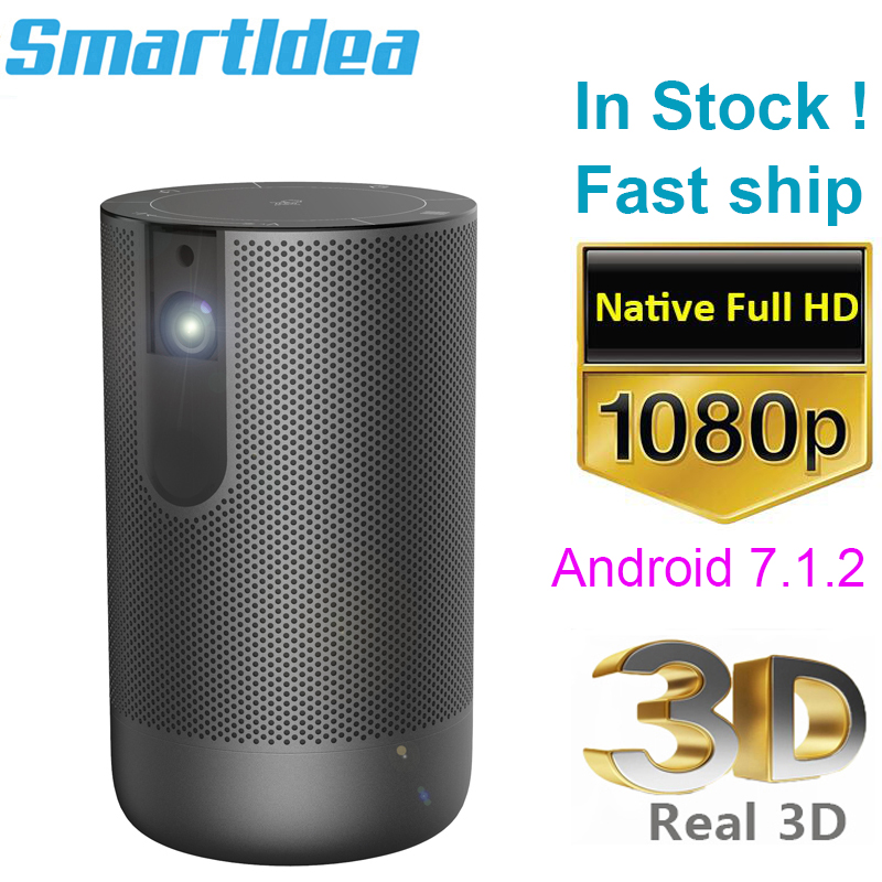 Smartldea D29 Portable 3D dlp Projector native Full HD 1920 1080p handheld Android wifi 4K beamer Build Battery Home Proyector(China)