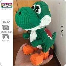 Bricks Toy Building-Blocks Yoshi Monster Super-Game Marioed 3d-Model Diamond Animal Children