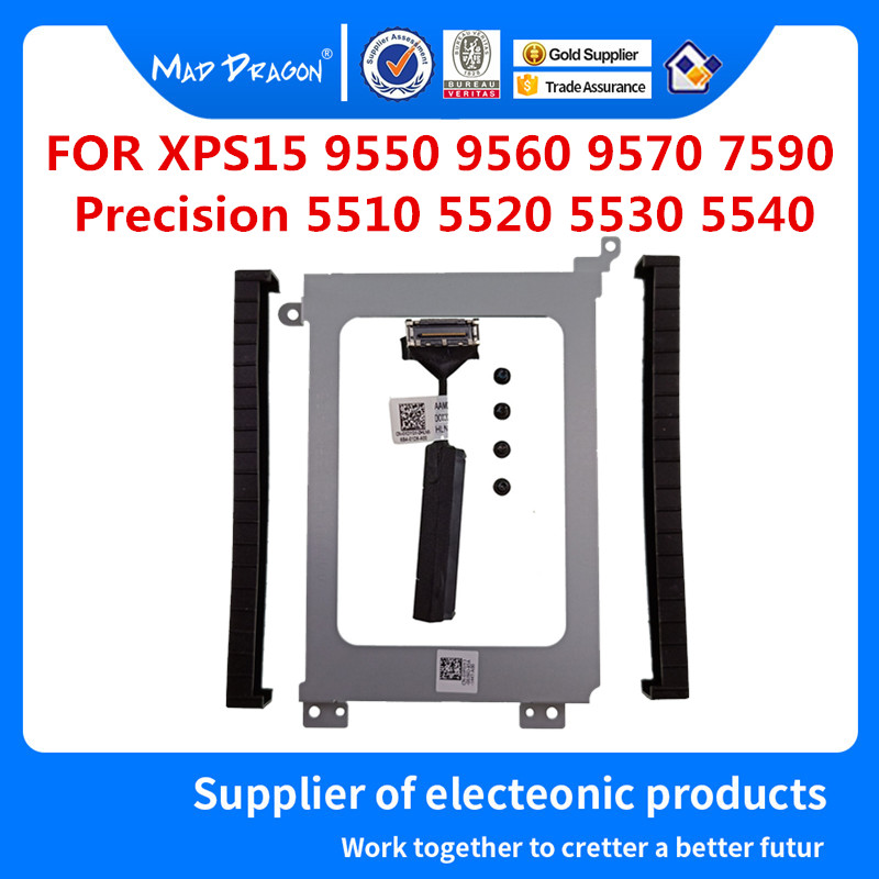 Hard Drive Bracket Caddy HDD Disk Drive Cable For Dell Precision 5510 5520 5530 XPS15 9550 9560 9570 7590 0XDYGX 0k0k71 03FDY3