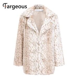 Image 5 - Leopard Luxus Faux Pelzmantel Jacke 2019 Winter Warm Langen Fell Flauschigen Teddy Jacke Mode Streetwear Shaggy Mantel Oberbekleidung