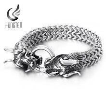 Fongten Hiphop דרקון רשת שרשרת צמיד איכות נירוסטה כבד קסם פאנק גברים של תכשיטים זכר מיוחד צמידים