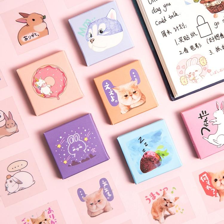 30 pcs/pack Rabbit Cat Unicorn Food Waterproof PVC Stickers Scrapbooking Stick Label Diary Stationer