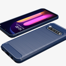 Silicone Case For LG V60 ThinQ 5G Carbon Fiber Brush Surface TPU Matte Cover For LG K51 V30 V40 V50 Q60 Q70 Q51 Case Shockprooof smart mirror flip phone case for lg g8 thinq case clear view cover for lg v30 plus v40 thinq covers h930