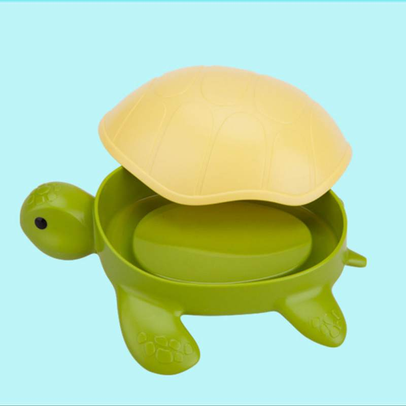 Funny Turtle Soap Kids Container Holder Soap Box Lid Bathroom Gift For Dishes With Storage Dispenser Kitchen Organizer