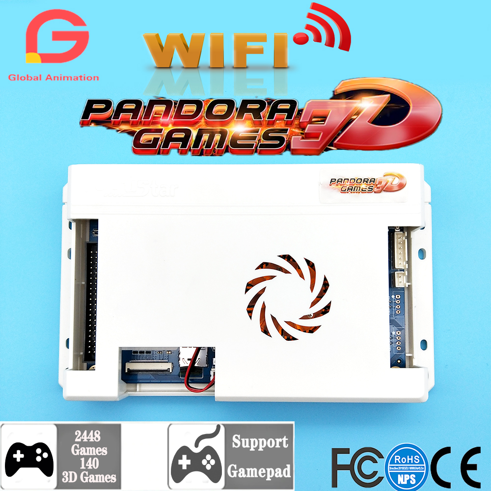 WiFi Version Pandora 3D 2448 In 1 Retro Arcade Games PCB Board 140*3D Games HDMI VGA Output Motherboard Support Add Extra Games