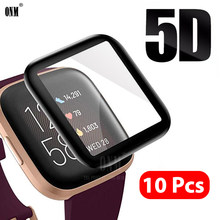 10 шт., защитная пленка 5D с закругленными краями и полным покрытием для Fitbit Versa 2 Watch Versa2, защита экрана (не стекло)