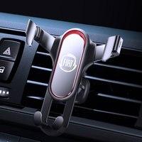 YNGGOO-Soporte de teléfono de gravedad para coche, rejilla de ventilación de metal para móvil, montaje de navegación para FIAT 500, Tipo Panda, accesorios
