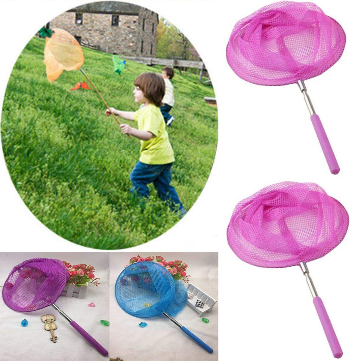 #Childrens Kids Extendable Net Telescopic Sea Fishing Bug Butterfly Catcher Mesh
