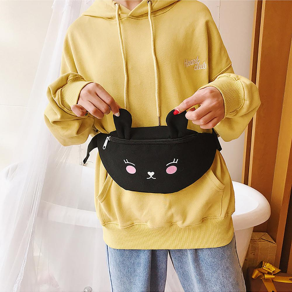 Women's Waist Bag Waist Pack New Fanny Packs Banana Bags Cute Pattern Chest Bag Hip Package Leisure Shoulder Messenger Pack