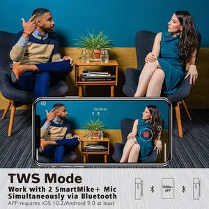 Image 5 - سماعة لاسلكية تعمل بالبلوتوث من SABINETEK smartمايك + ميكروفون لراديو الفيديو في الوقت الحقيقي لهاتف iPhone Huawei الذكي كاميرا تسجيل الفيديو