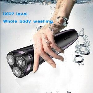 Image 2 - 3D плавающая электрическая бритва для мужчин моющаяся бритва USB перезаряжаемая бритва портативный триммер для бороды многофункциональный нож для бороды