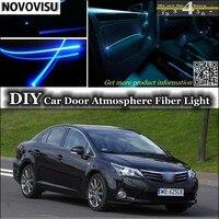 NOVOVISU For TOYOTA Avensis interior Ambient Light Tuning Atmosphere Fiber Optic Lights Inside Door Panel illumination Refit