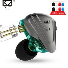 Kz zsx in-ear fones de ouvido 1dd 5ba 12 unidade híbrido de alta fidelidade metal fone de ouvido música esporte zax asx asf zs10 pro as16 c12 ca16 vx v90 ba8 t3