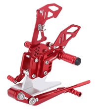 Sets Rearset Accessories CNC Parts for SUZUKI GSX-R600 GSX-R750 2006 2007 2008 2009 2010 Adjustable Rear Footrests Motorcycle