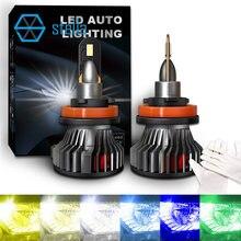 Stella luzes de led para carro, 3000k/4300k/5000k/6000k/8000k/12000k/k faróis para lâmpada de gelo automática, h4/h7/h1/h3/h11/9005/9012/5202