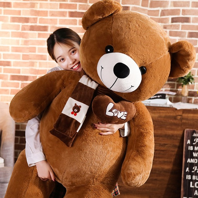 Huggable High Quality 4 Colors Teddy Bear With Scarf Stuffed Animals Bear Plush Toys Doll Pillow Kids Lovers Birthday Baby Gift Uncategorized Decoration Stuffed & Plush Toys Toys