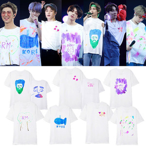 ALLKPOPER KPOP Bangtan Boys Same Graffiti T-shirt 5TH MUSTER Busan Seoul Concert O-neck short-sleeved T-shirt summer unisex(China)