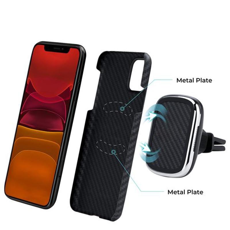 Чехол из углеродного волокна 11 Pro Max для iPhone 11, чехол, роскошная Магнитная задняя крышка, противоударный чехол для iPhone 11, чехол 11 Pro Max Funda