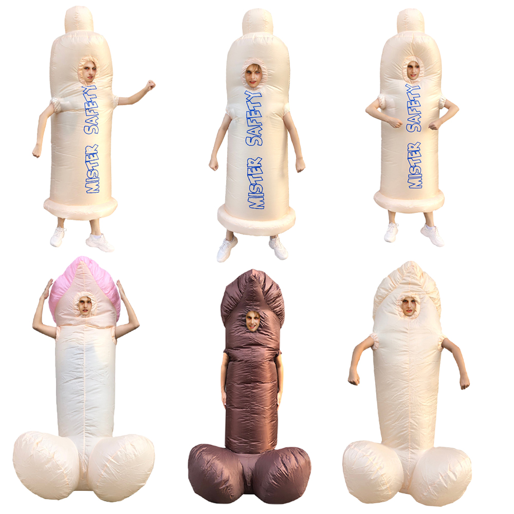 Hot Adult inflatable penis costume Valentine's Day gift present Carnival Halloween party costume for man woman Free shipping