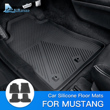 Car-Floor-Mats Ford-Mustang Silicone Custom AIRSPEED Dust-Proof