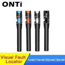 Onti 10 Mw Visual Fault Locator Fiber Optic Cable Tester 30 Mw Rode Laser Licht 5-30Km Pen type Visual Fault Locator Sc/Fc/St(China)