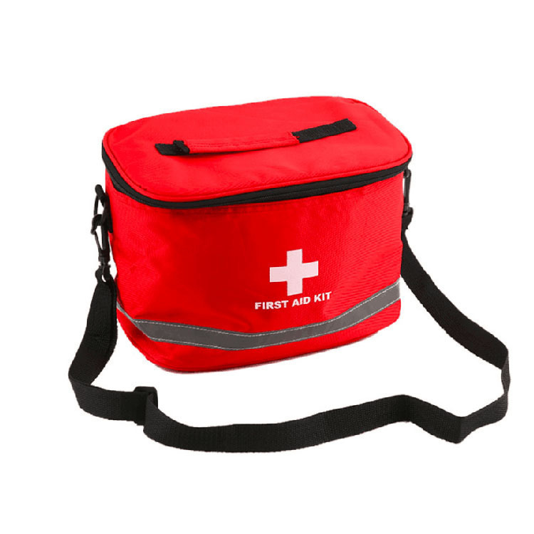 High-density Ripstop Sports Camping Home Medical Emergency Survival First Aid Kit Bag Outdoors Red Nylon Striking Cross Symbol