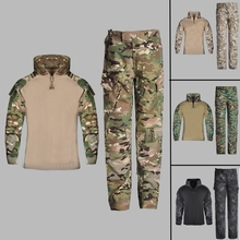 Clothing Soldier Camouflage-Uniform Army-Suit Halloween-Costumes Military Tactical Kids