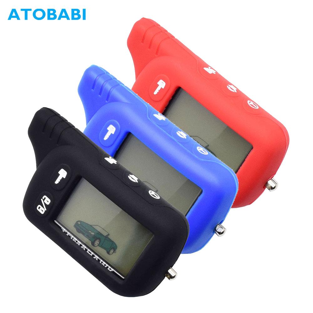 TZ9010 Silicone Key Case For Tomahawk TZ-9010 SL-950 TZ-9030 TZ9031 TZ 9010 Car Burglar Alarm LCD Keychain Remote Control Cover
