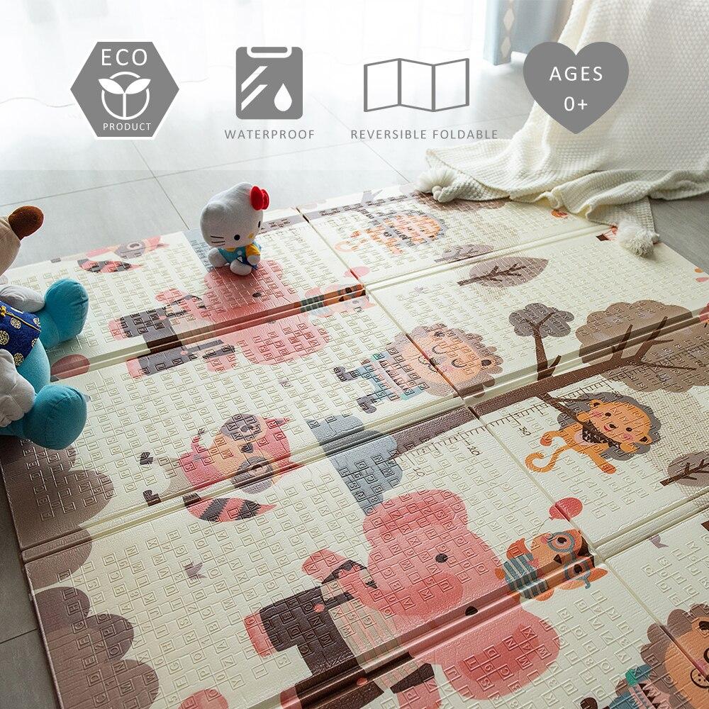 XPE pliable tapis rampant enfants tapis jouant bébé tapis bébé tapis de jeu jeu tapis de sol pour enfants salon tapis Puzzle tapis de jeu