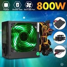Макс 800 Вт PCI SATA 220 В ATX 12 в игровой ПК источник питания 24Pin/Molex/Sata 12 см светодиодный вентилятор компьютера источник питания для настольного ПК