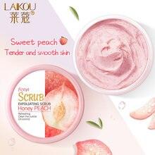 Laikou персиковый скраб для тела крем лица глубокое очищение