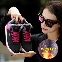 Zapato femenino 2019 botas de nieve de invierno para mujer con piel cómodos zapatos para correr altura creciente zapatillas deportivas de aire para niña