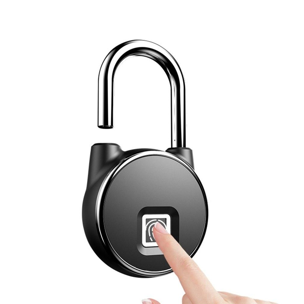 Fingerprint lock Smart door Lock Home Luggage Dormitory Locker Bearing Door Waterproof Smart lock home electronic door lock P22|Electric Lock| |  - title=